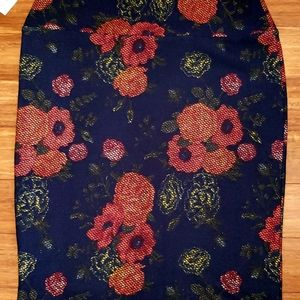 Lularoe NwT Skirt Orange Print Straight XL